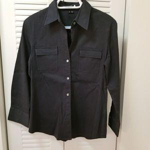 Theory blue button down shirt,  size M